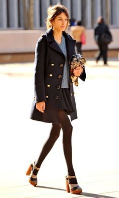 NY Fashion Week with Alexa Chung Estilo Fashion, Fashion Mode, New York Fashion, Look Fashion, Ideias Fashion, Womens Fashion, Fall Fashion, Fashion Beauty, Look Street Style