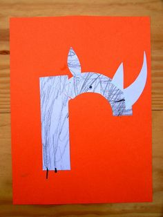 R is for ... rhino! You could make animals out of each letter of the alphabet. | R for Rhino Craft by Mud Hut Mama