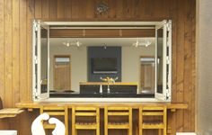 Bifold windows are great for indoor/outdoor communication.