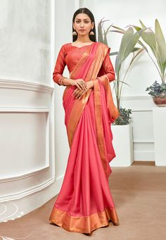 Buy Pink Chiffon Festival Wear Saree 201206 with blouse online at lowest price from vast collection of sarees at Indianclothstore.com. Chiffon Saree, Chiffon Fabric, Celebrity Gowns, Trendy Sarees, Indian Sarees Online, Net Saree, Work Sarees, Looks Chic, Latest Sarees