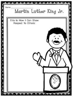 Free Martin Luther King Jr. Writing Activity - Just print and copy for an easy to use writing freebie. #MLK #Free
