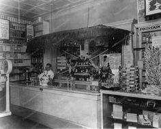 Peoples Drug Store 1930s Soda Fountain 8x10 Reprint Of Old Photo