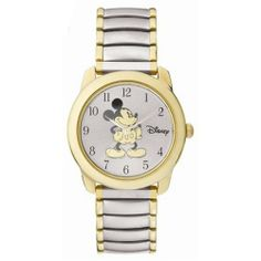 Rare Out Of Production Ladies Expension Band Mickey Mouse Disney Watch MU0850 SII. $24.95. Two Tone Expension Band. Easy to Read Numbers. Quartz Movement. Mickey Mouse Watch