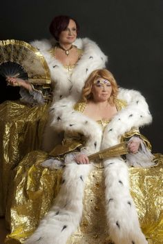 Czech singer Petra Janů and Věra Špinarová Mamma Mia, Czech Republic, Petra, Fur Coat, Game Of Thrones Characters, Singer, Costumes, Travel, Fictional Characters