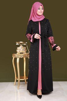 Abaya Fashion, Muslim Fashion, Fashion Dresses, Shrug For Dresses, The Dress, Cute Dresses, Simple Kurti Designs, Abaya Designs, Hijab Dress