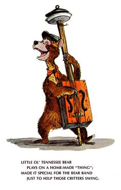 A Disneyland postcard for the Country Bear Jamboree with an original Marc Davis sketch that was used for the basis of the audio-animatronic design. Disney Parks, Walt Disney, Bear Tumblr, Mickey Mouse, Country Bears, Disney Images, Disney Pictures, Disney Love, Disney Stuff