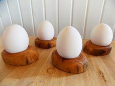 Eierbecher - Versandkostenfrei: 4er Set Eierbecher Apfelholz - ein Designerstück von Woellfchen bei DaWanda