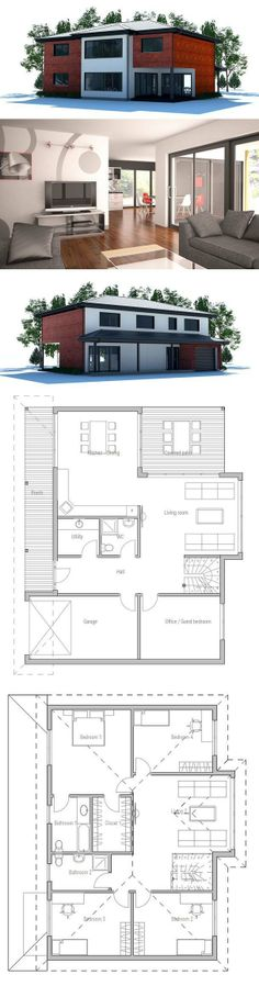 House Plan. I'm not a huge fan of the outside, but the interior design looks fabulous I think.