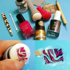 Mandy's nail, shop & DIY blog: Nailart: Reverse stamping...first try