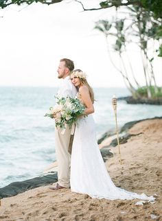 Intimate Oahu Wedding with DIY Elements - Inspired By This