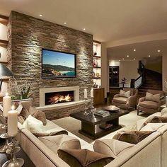 Contemporary Living Room designed by LMK Interior Design