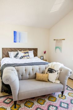 Everything about this bedroom ... Erin Taylor's Benicia, California Home Tour #theeverygirl
