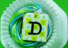 Lime Blossom Initial necklace