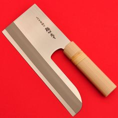 Original Japanese Kitchen cleaver, razor sharp, the cleaver weighs about Lenght of the blade : This knife is made in Japan. It is used in Japan for cutting noodles.