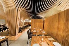 Unique Restaurant Ceiling Design with CNC