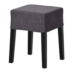 IKEA - NILS, Stool, The padded seat means you sit comfortably.The cover is removable and can be machine washed.