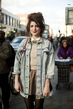 cool Street Style : London: quirky uniform (glamcanyon)