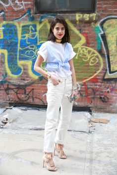 Summer casual white jeans @Madewell