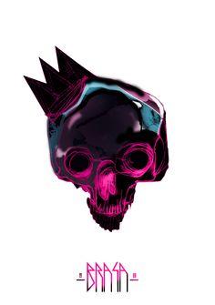 color full skull