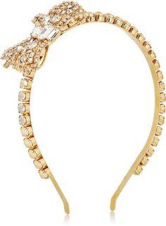 Miu Miu Crystal and Faux Pearl #Headband  perfect as a #wedding headpiece www.finditforweddings.com