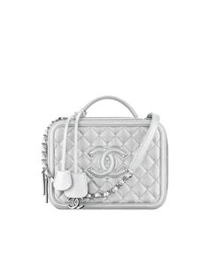 The latest fashion shows, ready-to-wear & accessories collections and Haute Couture on the CHANEL official website || Silver Chanel Vanity Case. Absolute Must Have! ~Melissa McInnis~ #Chanel #ChanelVanityCase #chanelpurse #Fashion #Purses
