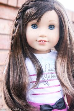 A close up look at what is unique about Grace's hair.  Come and see American Girl's, Girl of the Year 2015.
