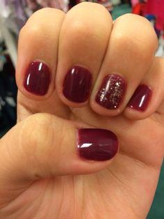 Perfect fall gel nails
