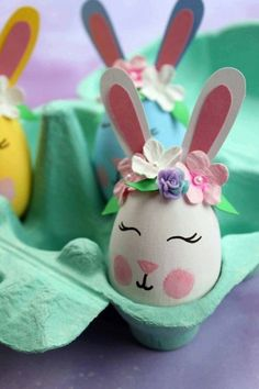 40 Adorable Easter Bunny Crafts For Kids – This Tiny Blue House DIY Quick and Easy Easter Decoration Craft Idea Easter Animal Crafts for Kids The Artf Bunny Crafts, Easter Crafts For Kids, Toddler Crafts, Easter Ideas, Kid Crafts, Easy Crafts, Art D'oeuf, Easter Egg Designs, Easter Season