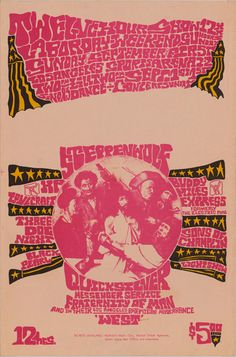 Quicksilver Messenger Service, Buddy Miles Express, Steppenwolf, Sons of Champlin, 3 Dog Night, H.P. Lovecraft, LA Sept 1968