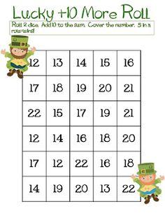 Classroom Freebies Too: St. Patrick's Day +10 Roll