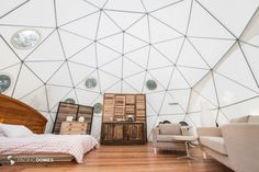 How inviting is this #Glamping Eco-living #Dome by Pacific Domes?