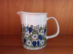 Arabia Krookus Savi, Finland, Cupboard, Pots, Porcelain, Pottery, China, Ceramics, Retro