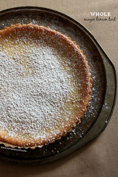 Whole Meyer Lemon Tart by Nutmeg Nanny