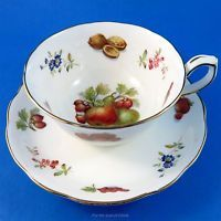 Pretty Fruit Design Hammersley Tea Cup and Saucer Set