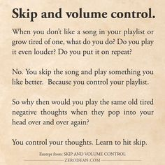Excerpt from: Skip and volume control
