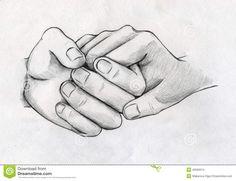Dibujos de manos entrelazadas de amor a lapiz  Imagui  MANOS Y
