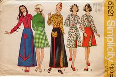 1970s Wrap Skirt & Blouse Pattern - Vintage Simplicity 5521 - Size 14 Bust 36 UNCUT FF by ErikawithaK on Etsy