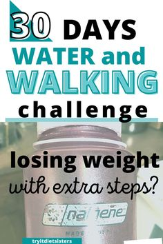 Changing just a few habits at a time to make a healthier life. Starting out by adding extra water every day and adding extra walking and steps each day. We tried it ourselves and learned first hand what would happen to our health and our weight loss by adding these steps to our lives. check out the group review now. Diet Plans To Lose Weight Fast, Lose Weight At Home, How To Lose Weight Fast, Walking Challenge, 30 Day Challenge, Give It 100, Nalgene Bottle, Making Excuses, Weights For Women