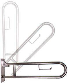 Universal Swing Away Stainless Steel Grab Bar with Built in Toilet Paper Holder - Modern Handicap Toilet, Handicap Bathroom, Zen Bathroom, Steam Showers Bathroom, Bathroom Layout, Bathroom Faucets, Small Bathroom, Bathroom Ideas, Shower Ideas