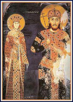 Car Dusan i carica Jelena, Manastir Lesnovo, XIV vek