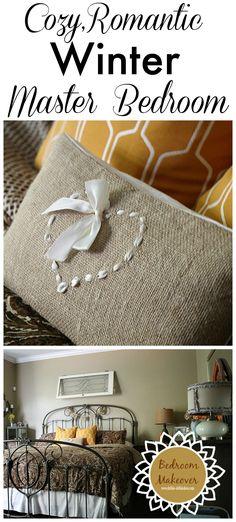 Cozy, romantic Winter bedroom makeover - Ralph Lauren bedding and curtains #homegoodshappy Debbiedoos