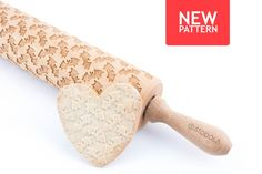 Bat Engraved Rolling Pin - Embossed For Making Cookies by STODOLA on Gourmly