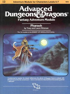 Pharaoh: Advanced Dungeons & Dragons Fantasy Adventure Module (Module for Characters Levels by Tracy and Laura Hickman. The module in the Desert of Desolation series. Dungeons And Dragons Modules, Dungeons And Dragons Game, Advanced Dungeons And Dragons, Dream Fantasy, Dark Fantasy, Pen And Paper Games, Dragon Rpg, Last Game, Sword And Sorcery