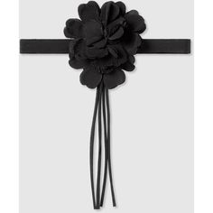 Gucci Floral Neck Bow ($335) ❤ liked on Polyvore featuring jewelry, black, gucci, silver jewelry, gucci jewelry, tassel jewelry, gucci jewellery and floral jewelry