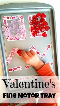 {For your convenience, this post may contain affiliate links}  This Valentine Fine Motor Tray was so simple to put together, and it was also a great way for my munchkin to practice fine motor control. If you're around the blog often, you'll notice we do a lot of fine motor practice, and that's because…