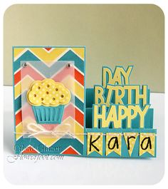 Flower Foot Designs: The #StampsofLife - Happy Birthday Step-Up #sizzix