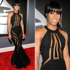 Kelly Rowland's Stunning Red Carpet Dress!