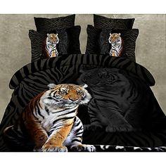 vier stuk 3d tijgerprint dekbed set - EUR € 33.93