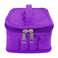 16 Bottles Essential Oil Carrying Portable Travel Holder Case Bag 5/10/15ml purple
