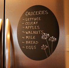 Chalkboard Vinyl Wall Decal oval floral by ImagefountainDesigns. $18.00, via Etsy.